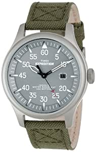 TIMEX Timex - Reloj analógico de cuarzo para hombre con correa de nylon, color verde