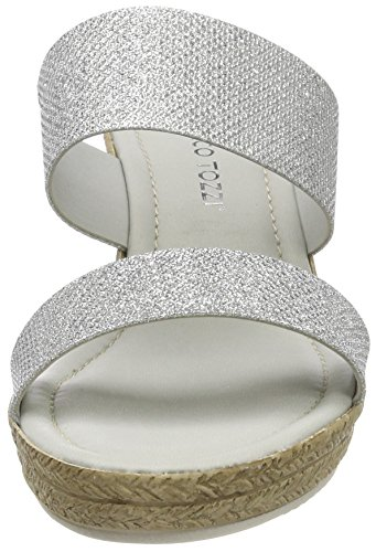 27207 Marco Argent Tozzi Silver Femme Mules f540xq5w