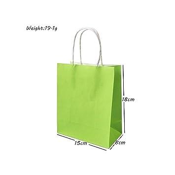 Amazon.com: BATOP Festival Gift Kraft Bag Green Shopping ...
