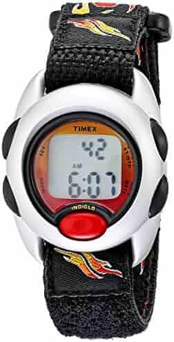 Timex Boys T78751 Time Machines Digital Flames Fast Wrap Velcro Strap Watch