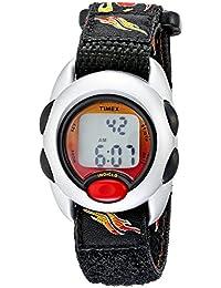 Boys T78751 Time Machines Digital Flames Fast Wrap Velcro Strap Watch