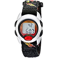 Timex Kids T78751 Digital Flames Watch with Fast Wrap Velcro Strap