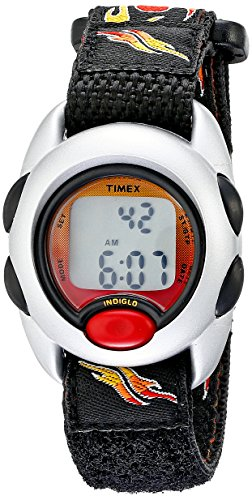 - Timex Boys T78751 Time Machines Digital Flames Fast Wrap Velcro Strap Watch