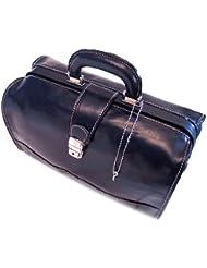 Floto Luggage Ciabatta Doctor Handbag, Blue, Small