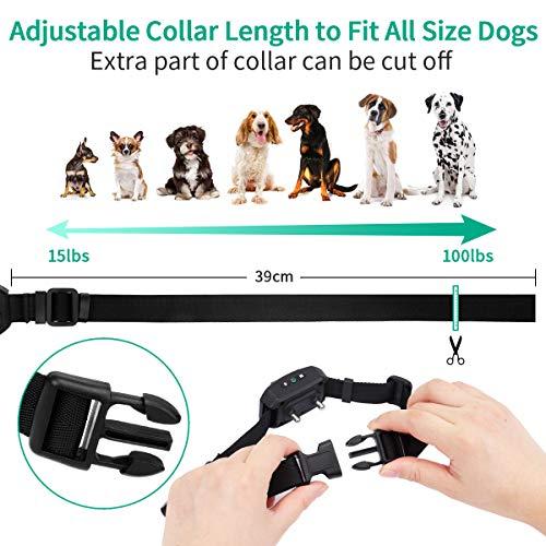 pueikaiDog Bark Collar, Dog Training Collar with Beep/Vibration/Shock Modes, Rechargeable Waterproof Anti-bark Collar with Adjustable Sensitivity, Smart No Bark Collar for Small Medium Large Dogs