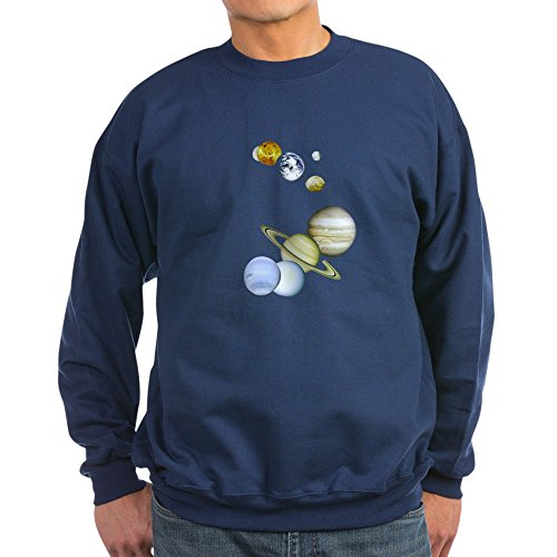 CafePress - Our Solar System Astronomy - Classic Crew Neck Sweatshirt Navy