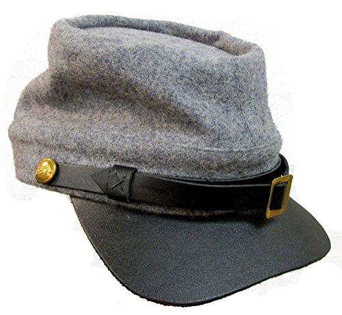 Military Uniform Supply Civil War Reenactment Reproduction - CS Grey Kepi Cap - Large