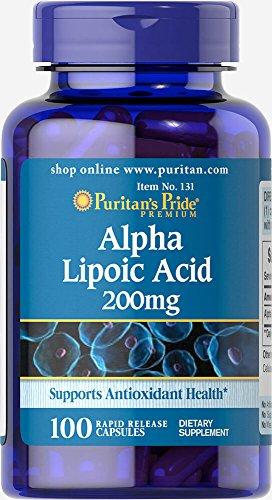 Alpha Lipoic Acid 200mg Capsules - Puritan's Pride Alpha Lipoic Acid 200 mg-100 Capsules