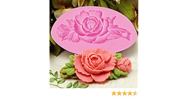NiceButy 3D diseño de Flores de Rosas para Tartas Molde de Silicona Fondant para decoración de Tartas: Amazon.es: Hogar