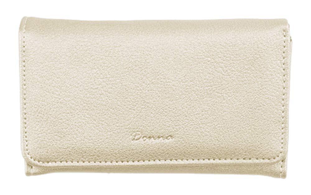 3ca0a282e051a Geldbörse Damen Portemonnaie 16x9 cm Geldbeutel mit Vielen Fächern Modische  Trend-Farbe Gold Beige Metallic  Amazon.de  Koffer