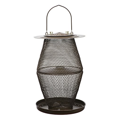 Perky-Pet No/No Bronze Lantern Bird Feeder BZL00328 (Feeder Mesh No Bronze Bird)