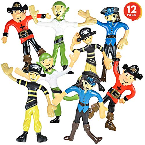 ArtCreativity Bendable Pirate Figures, Set of 12 Flexible Men, Birthday Party Favors for Boys and Girls, Stress Relief…
