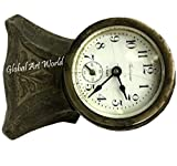 Global Art World Antique Collectors Piece Ansonia Travel Alarm Table Clock Wind Up 8 Days Working Sterling Silver Time Piece Art Deco Case HB 0263