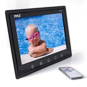 Pyle PHR105B 10-Inch LCD Hi-Resolution Display Monitor with Detachable Shroud Housing Bracket, RCA Connectors, Easy Touch Button Controls, for Custom Applications & Installations (Black)