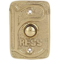 Wired Brass Doorbell Chime Push Button in Polished Lacquered Finish Vintage Decorative Door Bell with Easy Installation…