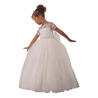 Fancy Kids First Communion Dress Girls Dresses 1-12 Year Old Ivory Size 2