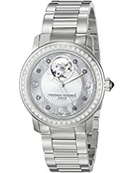 Frederique Constant Womens FC310HBAD2PD6B Heart Beat Analog Display Swiss Automatic Silver-Tone Watch