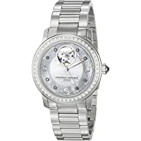 Frederique Constant Women's FC310HBAD2PD6B Heart Beat Analog Display Swiss Automatic Silver-Tone Watch