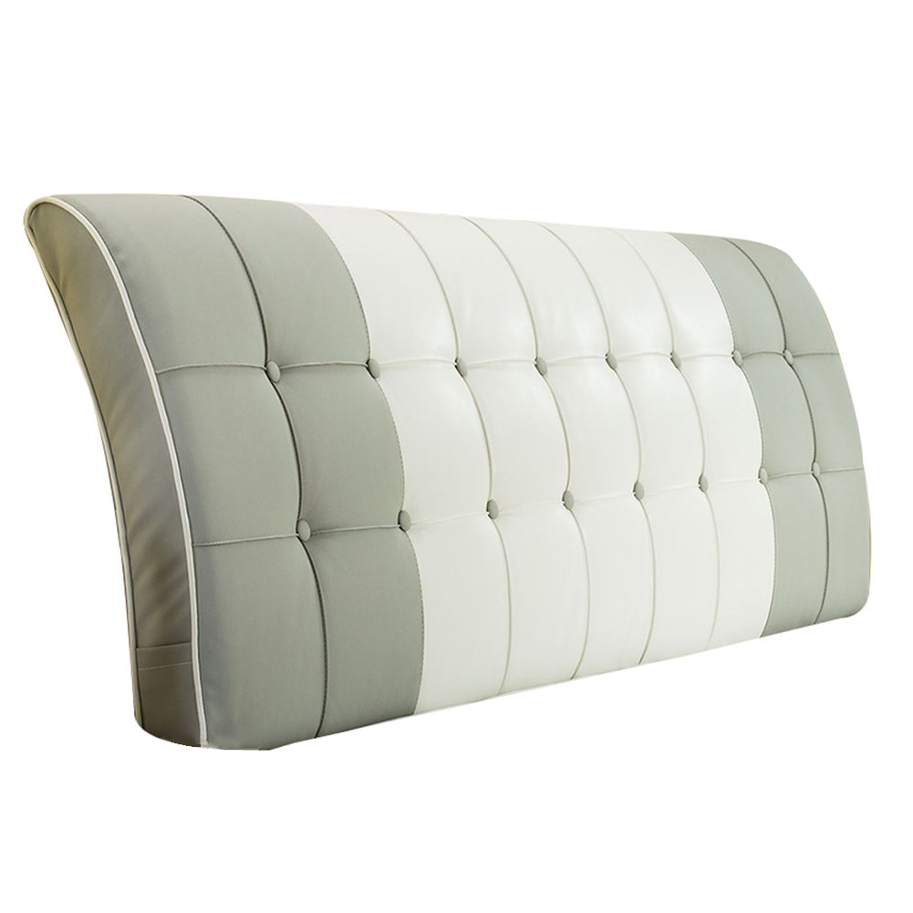 HAIPENG クッション ベッドの背もたれ ベッド バックレスト クッション ヘッドボード 大 ベッドサイド カバー 柔らかい 布張り 腰椎 パッド ソファー 快適、 7色、 マルチサイズ (色 : グレー, サイズ さいず : 120x63cm) B07F3XLX55グレー 120x63cm