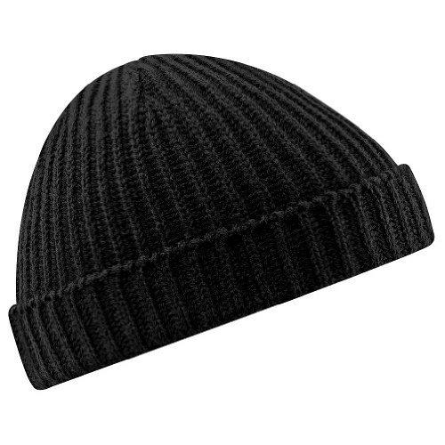 Beechfield B460 Trawler Beanie Hat Black (Trawler Beanie)