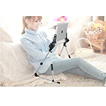 ieGeek Tablet / Phone Stand Holder, Fit for iPad iPhone Cellphone Tablet Kindle in Bed Sofa Bedroom Kitchen, Adjustable and Foldable