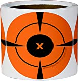 4 inch target - 200 Mega-Pack 4-Inch Bullseye Target Stickers | Buy 1 Roll & Get 1 Free (100 Targets Per Roll - You Get a Whopping 200 Total) Neon Orange Self-Adhesive Targets for Shooting