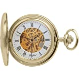 Woodford Gold Plated Full Hunter Mechanical Pocket Watch With Engravable Shield