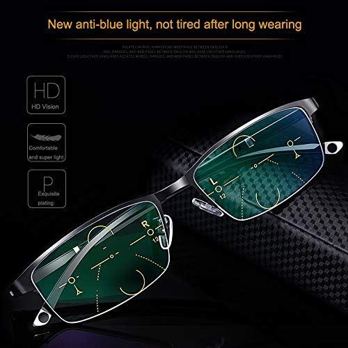 老眼鏡、累進多焦点レンズ、青い光遮断メガネ、防眩保護、疲労防止、フレキシブル、TR、遠近両用、サングラス 、1.25 / 1.75 / 2.25 / 2.75