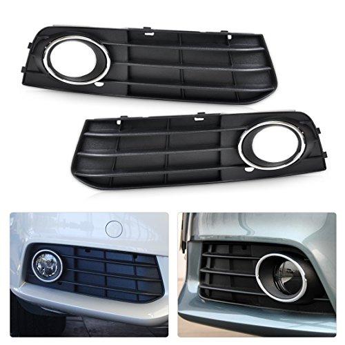 (beler Front Left + Right Bumper Insert Fog Light Lamp Cover Grille Assembly For Audi A4 B8 2008-2012)