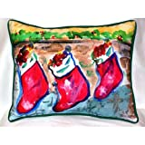 Betsy Drake HJ279 Christmas Stockings Large Indoor & Outdoor Pillow 16 x 20