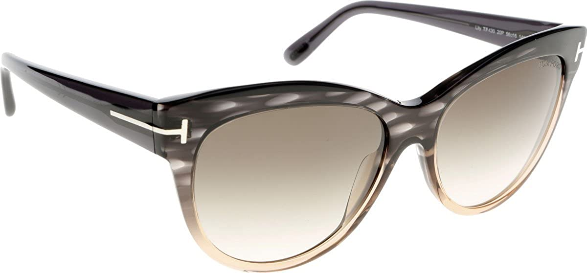 df0abf7f84 Amazon.com  Tom Ford Sunglasses - Lily Frame  Green Lens  Brown-TF043020P   Clothing