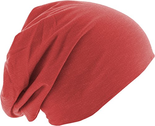 Adulto de Punto 3828 Gorros heather Beanie Rot Red Unisex MSTRDS Jersey q1HfY