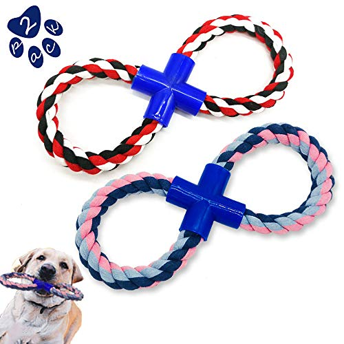 Equimedicos Dog Rope Toys for Aggressive Chewers – 8 Shaped Large Dogs Chew Toys, Durable Heavy Chewers Rope Toys for…