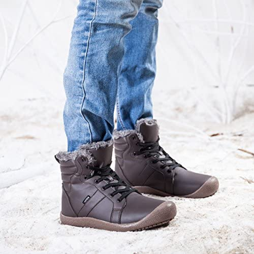 gracosy Men Winter/'s Casual Boots Men/'s Winter Warm Shoes for Outdoor High-top Leather Shoes Non-Slip Sole Walking Shoes