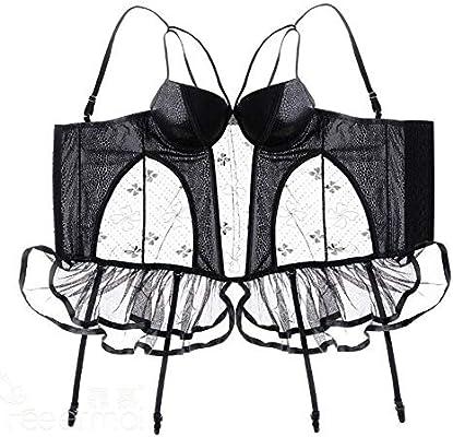 QWE Ropa Interior Sexual Falda de Malla Sexy para Mujer Columpio ...