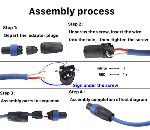 Devinal Professional SpeakOn Speaker Adapter Connectors 4 Pole Plug Twist  Lock Compatible with Neutrik Speakon NA4LJ, NA4LJX, NL4MP, NL4MPR, NL4FC,  NL4FX, NL4 & NL2 Series, NL2FC, Speak-On- 4 Pack | Pricepulse | Speakon To Xlr Cable Wiring Diagram |  | Pricepulse