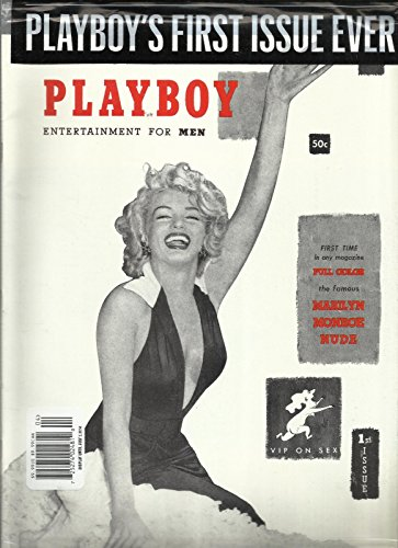 PLAYBOY'S MAGAZINE ENTERTAINMENT FOR MEN. FIRST ISSUE EVER FIRST TIME IN ONLY MAGAZINE, FULL COLOR THE FAMOUS MARILYN MONROE NUDE ISSUE, 2014 ( WARNING,NOT TO BE SOLD TO PERSONS UNDER - Men United Nude
