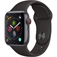 Apple Watch Series 4 GPS & Cellular 40mm Space Gray Aluminum Case with Black Sport Band