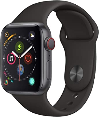Apple Watch Series 4 (GPS + Cellular, 40mm) - Space Gray Aluminum Case with Black Sport Band