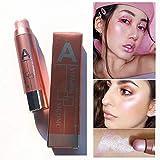 YunZyun Highlight Stick Contour Stick Beauty Makeup Face Powder Cream Shimmer Concealer Stick,Enhances and Illuminates The Complexion (A)