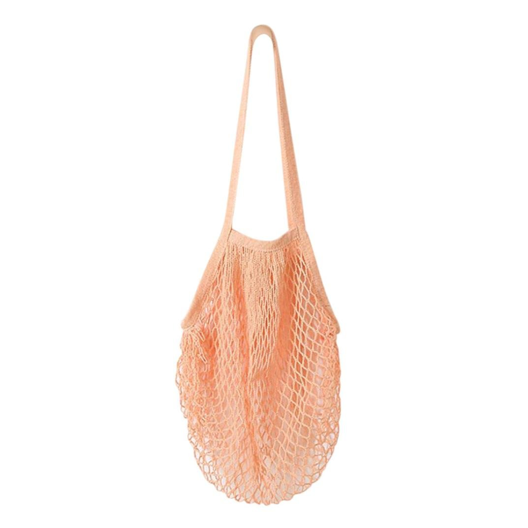 Becoler Reusable Grocery Bags –Fruit String Grocery Shopper Cotton Tote Mesh Woven Net Shoulder Bag Becoler Bags