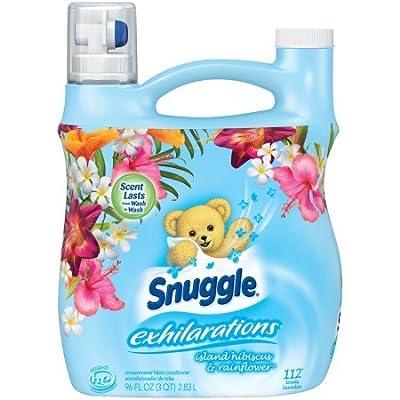 Snuggle Exhilarations Island Hibiscus & Rainflower Concentrated Liquid Fabric Conditioner set of 4, 96 fl. oz per Jug a Total of 384fl. oz