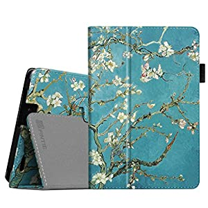 """Fintie Folio Case for Kindle Fire HD 7"""" (2013 Old Model) - Slim Fit Folio Case with Auto Sleep / Wake Feature (will only fit Amazon Kindle Fire HD 7, Previous Generation - 3rd), Blossom"""