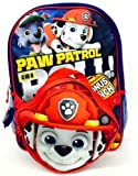 Paw Patrol Boys' Backpack with Lunch Kit, Red