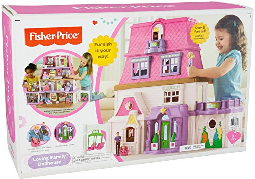 fisher price loving family dollhouse buy online in uae toy products in the uae see prices. Black Bedroom Furniture Sets. Home Design Ideas
