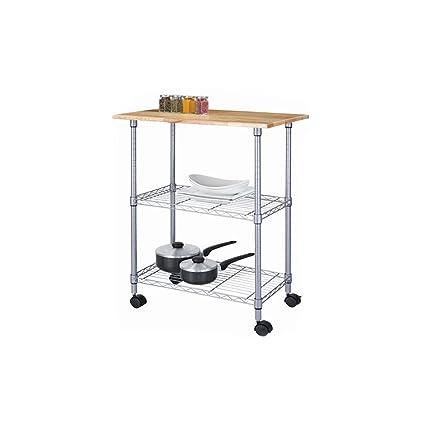 Amazon.com: Essential Home 3 Tier Portable Kitchen Cart ...