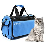 HIPPIH Premium Pet Travel Carrier for Dogs and Cats Comfort Airline Approved Tote Soft Sided Travel Bag