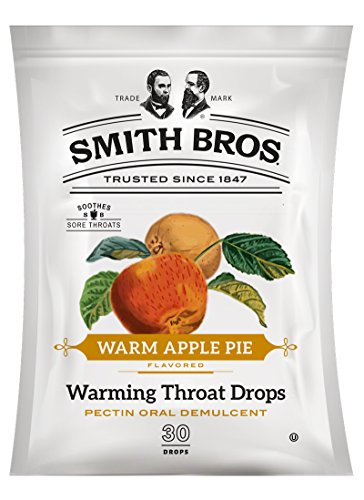 Sore Throat Lozenges by Smith Brothers (Warming Apple Pie, 90 Count): Vintage Candy Throat Drops - The Original American Cough (Sore Throat Natural Apple)