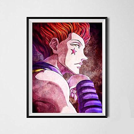 Amazon Com Ms Fun Death Killer Hisoka Hunter X Hunter Japanese Anime Canvas Art Prints For Kids Bedroom Decoration 8 X 10 Inches No Frame Furniture Decor