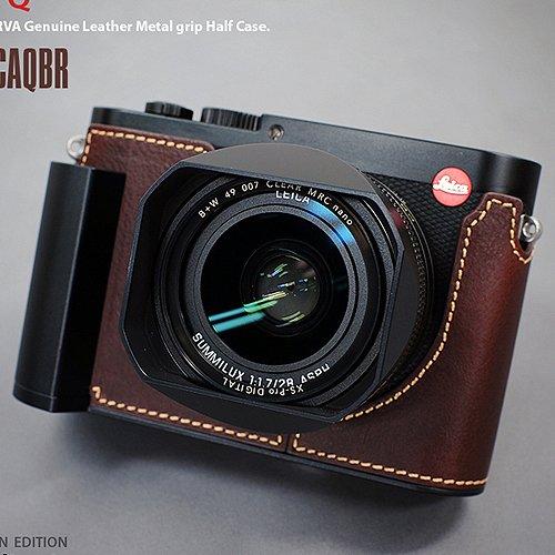 LIM'S Metal Grip Genuine Leather Camera Half Case LE-HCLCAQBR (Brown)